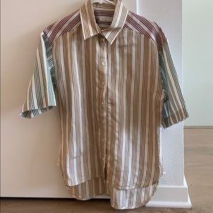 SANDRO striped button down shirt